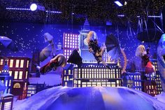 A view of Printemps' holiday windows. [Photo by Dominique Maitre]