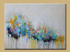 ORIGINAL abstract painting Abstract art, blue abstract ,large abstract painting, Acrylic flower painting by oak on Etsy, $375.00