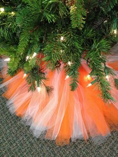 College Color Tulle Tree Skirt