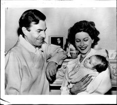 James Mason with his wife Pamela and daughter.