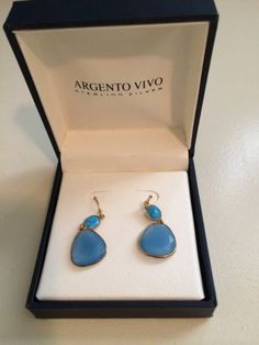Argento Vivo Drop Sterling Silver Earrings - NIB - http://designerjewelrygalleria.com/argento-vivo/argento-vivo-drop-sterling-silver-earrings-nib/