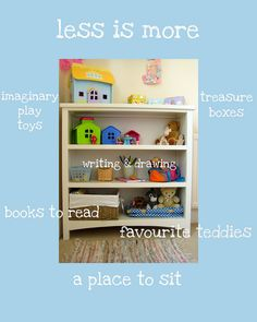 how to keep a bedroom tidy by www.nurturestore.co.uk, via Flickr.  This is so great for giving advice on how to keep a room neat and calm, and how to support your children in playing with their toys.