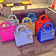 Dior = my dream bag Luxury Purses, Luxury Bags, Dior Handbags, Purses And Handbags, Gucci Dyonisus Bag, Sac Lady Dior, Cristian Dior, Sacs Design, Cute Purses