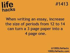 Essay time