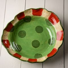 Etta B Peppermint Large Serving Bowl