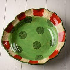 Etta B Peppermint Large Serving Bowl