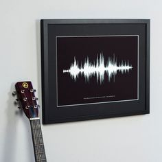 This unique print allows you to turn your voice, in all its intricate detail, into a striking piece of art for your wall. Perfect sentinel gift for valentines day with your sentimental message. Each individuals voice has its own signature due to the length and shape of the vocal chords, so each person will create a very different sound wave even when saying the same words. When printed as a high resolution sound wave image, this voice signature makes for a very modern and unique piece of…