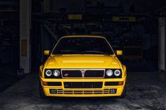 1992 Lancia Delta Integrale Evo 1 in rare Giallo Ferrari yellow.