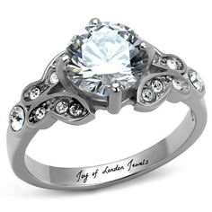 A Perfect 2CT Round Cut Russian Lab Diamond Promise Engagement Anniversary Wedding Ring I love this ring
