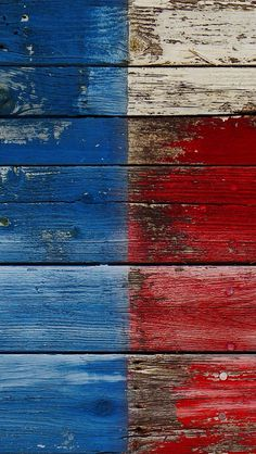 RED, WHITE AND BLUE WOOD, IPHONE WALLPAPER BACKGROUND