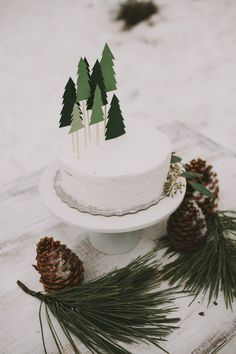 do it yourself pine tree cake topper