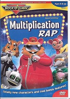 Rock N Learn Multiplication Rap DVD AGES 8+ BRAND NEW SEALED FREE SHIP TRACK US