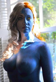 "victoriacosplay: ""Mystique Mid-Transformation (X-Men First Class). www.facebook.com/VictoriaCosplay www.victoriacosplay.blogspot.com Photographer:..."