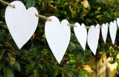 Wildflower wedding paper heart bunting More