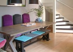 Kitchen Bench Seating with Storage | Maple Dining Table | Kitchen ...