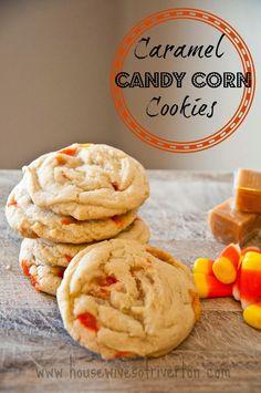 Caramel Candy Corn Cookies #halloween