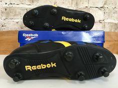sale retailer a08d3 9b485 Details about Vintage Reebok Jr SG Soccer Football Boots UK 4 US 4.5 Eu 36  Black Leather BNIB