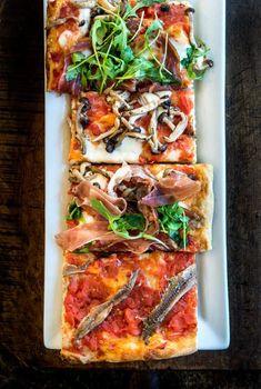 Roman Pizza -- Gabriele Bonci Style of Rome's famed Pizzarium Romans Pizza, Pizza Food Truck, All Star, Mushroom Pizza, Still Tasty, How To Peel Tomatoes, Flatbread Pizza, Flatbread Recipes, Roman Fashion