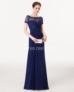 $114.19-Sheath Beaded Bateau Neck Short Sleeve Chiffon Mother Of the Groom Dress. http://www.ucenterdress.com/sheath-beaded-bateau-neck-short-sleeve-chiffon-prom-dress-pMK_300781.html.  Tailor Made mother of the groom dress/ mother of the brides dress at #UcenterDress. We offer a amazing collection of 800+ Mother of the Groom dresses so you can look your best on your daughter's or son's special day. Low Prices, Free Shipping. #motherdress