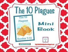 Moses & The 10 Plagues Mini Book Freebie
