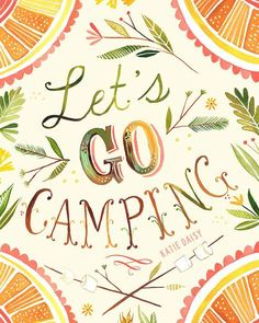 Lets Go Camping vertical print by thewheatfield on Etsy, $18.00