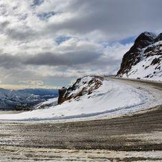 Road up to snow farm  Cardrona  New Zealand