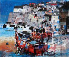 Mike Bernard. Red Boats, Port Isaac