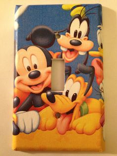Mickey Mouse Clubhouse Disney Light Switch by TheOlSwitcheroo