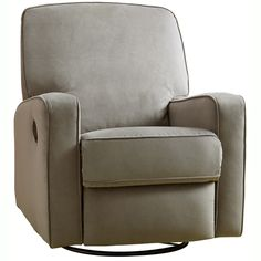 Colton Gray Fabric Modern Nursery Swivel Glider Recliner Chair - Overstock™ Shopping - Big Discounts on Recliners