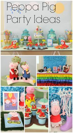 Fun Peppa Pig party ideas for a girl birthday! See more party ideas at CatchMyParty.com. #peppapig #girlbirthday