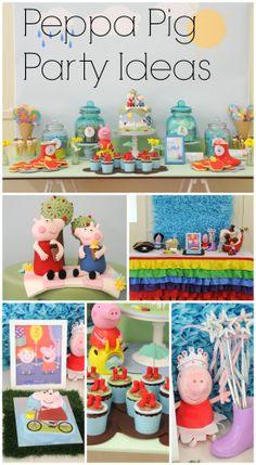 Fun Peppa Pig party ideas for a girl birthday // Ideas para una fiesta de niña de Peppa Pig