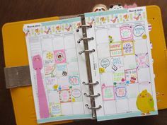 March Monthly- filofax yellow original
