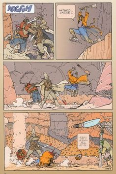 as a general rule they stop expanding the scope of their work and drill down into old obsessions, attempting to Jean Giraud Moebius, Moebius Art, Alien 1979, Vintage Comic Books, Vintage Comics, Comic Styles, Cartoon Styles, Moebius Comics, Science Fiction