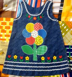 70s Patchwork Dress Girls 6/7 by lishyloo on Etsy, $20.00