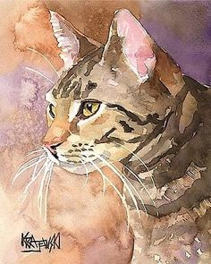 cat art water color - Google Search