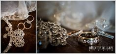 Beautifully captured wedding ring and wedding jewelry | Photography by Red Trolley Studio