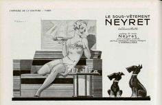 Neyret lingerie ad in L'Officiel de la Mode.1934