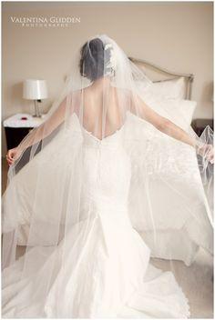 Beautiful, long veil