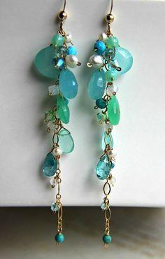 cc5b6e152 Drop Gem Earrings Dangle Earrings Leverbacks Earrings Handmade, Wire  Earrings, Chandelier Earrings, Jewelry