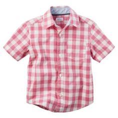 Toddler+Boy+Carter's+Plaid+Button-Down+Shirt+