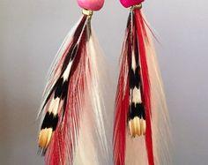 Top Selling Blue Jay Feather Earrings by Wildermans on Etsy