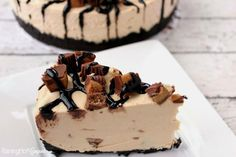 Reese's Peanut Butter No Bake Cheesecake. I should probably halve this recipe for next time, it is so rich. Peanut Butter No Bake, Peanut Butter Cheesecake, Reeses Peanut Butter, No Bake Cheesecake, Cheesecake Recipes, Butter Pie, Melted Butter, Yummy Treats, Delicious Desserts