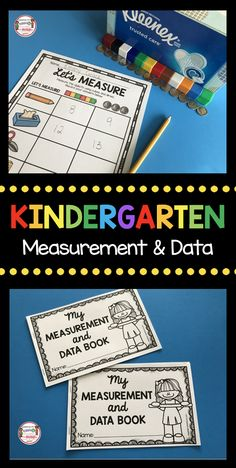 MEASUREMENT and DATA - worksheets - how to measure - graphing - how to graph - math centers - measuring assessment - FREE printables Measurement Kindergarten, Measurement Activities, Graphing Activities, Free Kindergarten Worksheets, Kindergarten Lessons, Free Activities, Classroom Activities, Classroom Decor, Math For Kids