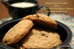 Oatmeal Coconut Cookies from The Back in the Day Bakery Cookbook | BettyCupcakes.com