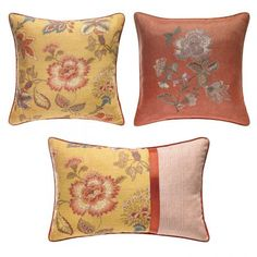 The Jardin decorative pillows by Croscill features a printed Jacobean floral pattern in corals & pinks with aqua accents that will transform your bedroom. #Croscill #HomeDecor #DecorativePillows