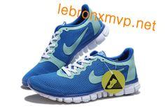 Mens Free Run Nike Free 3.0 V2 Prism Blue Reflect Silver