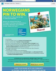 Norwegian Offers Pinners a Chance to Win a Dream Cruise