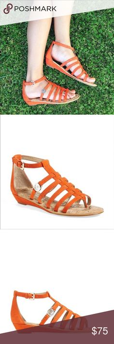 NIB Sam Edelman Gladiator Sandals Brand-new in box size 8 Sam Edelman suede leather gladiator sandals with polish logo on sides. Has a slim 1 inch heel and adjustable ankle strap. Sam Edelman Shoes Sandals