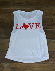 Show your love for your Lone Star State and enjoy it's beautiful weather in this new Barefoot Love Texas Tank top!