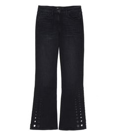 W25 STUDDED CROP BELL COLE JEANS